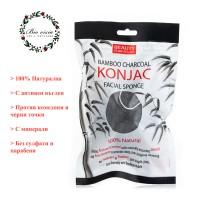 Черна Гъба Конджак / Konjac / - 100 % Натурална, за дълбоко почистване на Лицето